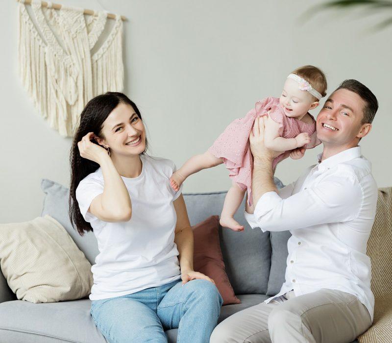 family, baby, mom